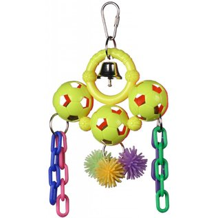 """SUPERBIRD CREATIONS Super Bird Creations Sock-It-To-Me Rattle Toy 9"""" x 5"""""""