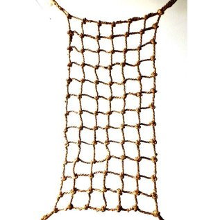 "Aronico Canopy Medium 6' x 3', 3/4"" rope, 5"" square holes, 4 rings"