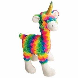 """Snugarooz Mamma Llama Rainbow Dog Toy- 15"""""""