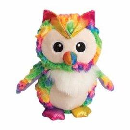 "Snugarooz Hootie the Owl Rainbow Dog Toy- 8"""