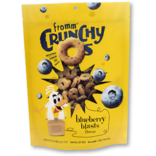 FROMM FROMM DOG CRUNCHY O'S BLUEBERRY BLAST 6OZ