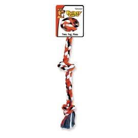 Mammoth Pet Products Cottonblend Color 3 Knot Rope Tug Mini 10in