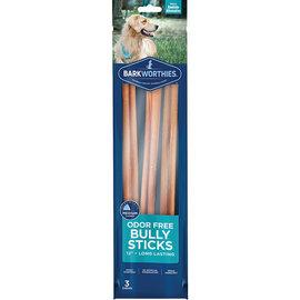 BARKWORTHIES BARKWORTHIES DOG ODOR FREE BULLY 12IN 3 PACK