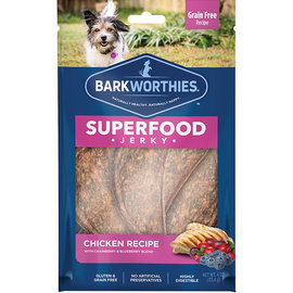 BARKWORTHIES Barkworthies Chicken with Cranberry & Blueberry Superfood Jerky Dog Treats, 4-oz bag