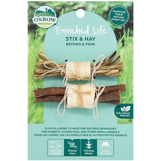 OXBOW OXBOW SMALL ANIMAL ENRICHED LIFE STIX & HAY