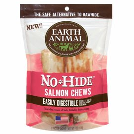 EARTH ANIMAL EARTH ANIMAL DOG NO-HIDE SALMON 4 INCHES 2 PACK