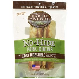 EARTH ANIMAL EARTH ANIMAL DOG NO-HIDE PORK 7 INCHES 2 PACK