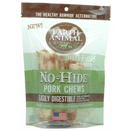 EARTH ANIMAL EARTH ANIMAL DOG NO-HIDE PORK 4 INCHES 2 PACK