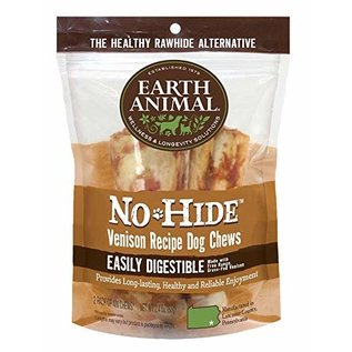 EARTH ANIMAL EARTH ANIMAL DOG NO-HIDE VENISON 4 INCHES 2 PACK