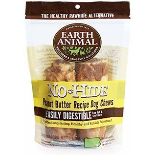 EARTH ANIMAL EARTH ANIMAL DOG NO-HIDE PEANUT BUTTER 4 INCHES 2 PACK
