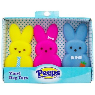 Peeps 3-Piece Vinyl Bunny Dog Toys