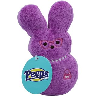 Peeps Plush Bunny Medium Dog Toy Assorted Colors