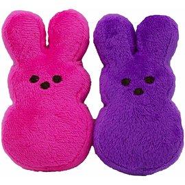 Peeps Mini Plush Bunny Dog Toys, 2 count Asst. Colors