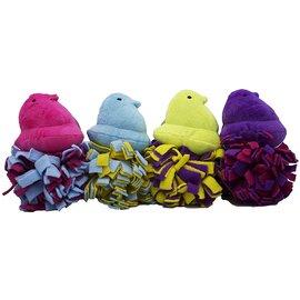 Peeps Plush Chick Fleece Bottom Dog Toy Asst. Colors