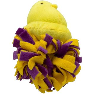 Peeps Plush Chick Fleece Bottom Dog Toy Asst. Colors