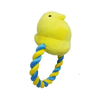 Peeps Squeaky Chick Rope Dog Toy Asst. Colors