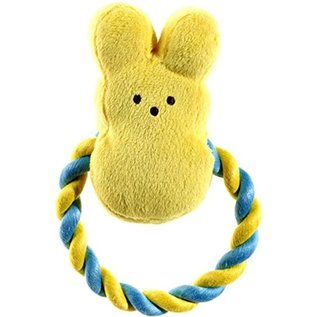 Peeps Squeaky Bunny Rope Dog Toy  Asst. Colors