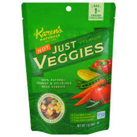 KAREN'S NATURALS / JUST TOMATOES HOT JUST VEGGIES 3OZ BY KAREN'S NATURALS