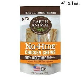 "EARTH ANIMAL Earth Animal No-Hide Chicken Chews 4"" 2 Pack 4oz."