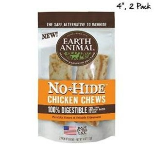 "EARTH ANIMAL Earth Animal No-Hide Chicken Chews 4"" 2 Pack 4oz."