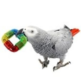 "SUPERBIRD CREATIONS Superbird Creations Rattler Ring Foot Toy 2.75"" x 1"""