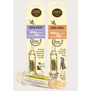 EARTH ANIMAL Zen-Pen 60mg Transdermal Hemp Gel for Dogs and Cats (Purple Pen)