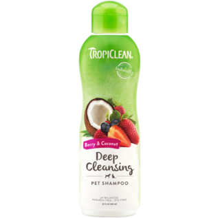 TropiClean Berry & Coconut Deep Cleaning Shampoo 20OZ