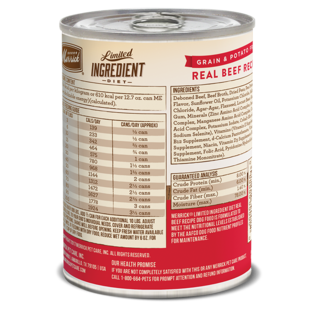MERRICK DOG LIMITED INGREDIENT GRAIN FREE BEEF 12.7OZ Each