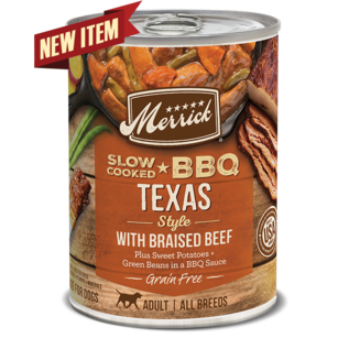 MERRICK DOG SLOW-COOKED GRAIN FREE TEXAS STYLE BEEF 12/12.7OZ CASE