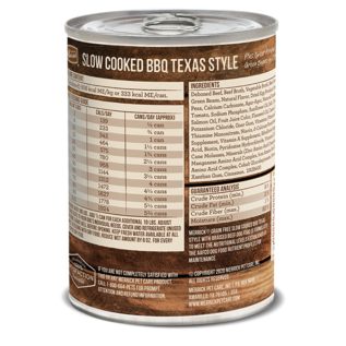 MERRICK DOG SLOW-COOKED GRAIN FREE TEXAS STYLE BEEF 12.7OZ EACH