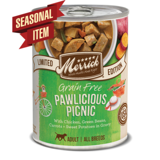 Grain Free Pawlicious Picnic Seasonal Recipe 12/12.7 oz Case