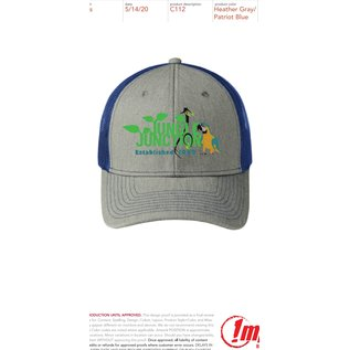 Jungle Junction Embroidered Logo Hat Color Grey/Blue