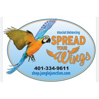 Jungle Junction Tee Spread Your Wings Orange Medium