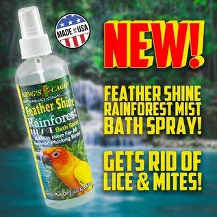 King's Cages Rainforest Mist Feather Shine Bath Spray for All Birds 8 oz