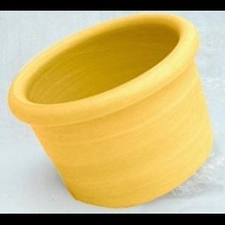 Mango 00 Crock - Yellow Plastic 8 oz.