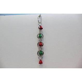 "Christmas Bell Loops  Small Bird Toy 1"" x 7.5"" XMAS"
