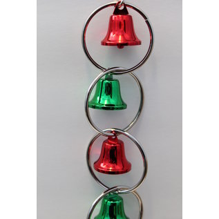"Christmas Bell Loops Medium Bird Toy 2-1/4"" x 12-1/2"" XMAS"