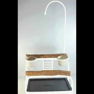 Mango Deluxe Traveler Table Top - Textured  White