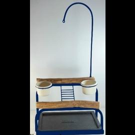 Mango Deluxe Traveler Table Top - Textured Midnight Blue
