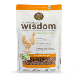EARTH ANIMAL Earth Animal Wisdom® Dog Food - Chicken Recipe 10#