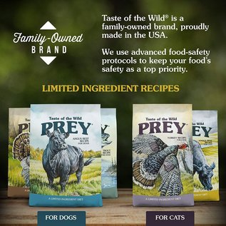 Diamond Taste of the Wild Prey Angus Beef Dry Formula for Cats 15lb