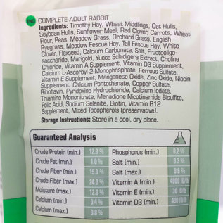 Versele-Laga Complete All-In-One Nutrition Adult Rabbit Food, 3-lb bag