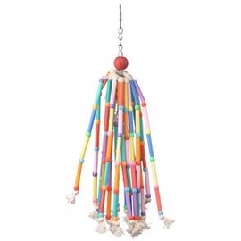 "SUPERBIRD CREATIONS Wind Chimes w/ Colorful Straws & Bell - 13"" x 2"""