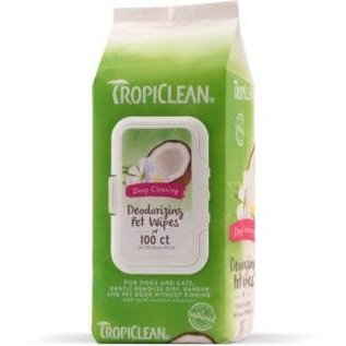 TropiClean Deep Cleaning Wipes 100CT