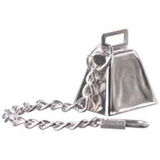 """SUPERBIRD CREATIONS COW BELL WITH CHAIN - MEDIUM 10.5"""" x 1.75"""""""