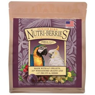LAFEBER COMPANY LAFEBER SENIOR BIRD NUTRI-BERRIES MACAW/COCKATOO-3 LB
