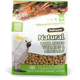 ZuPreem Natural Large Parrots 3lb