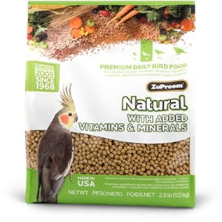 ZuPreem Natural Cockatiels 2.5lb