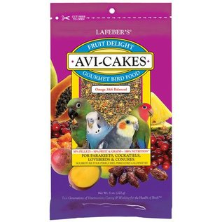 LAFEBER COMPANY Lafeber Avi-Cakes Fruit Delight Small Bird 8oz