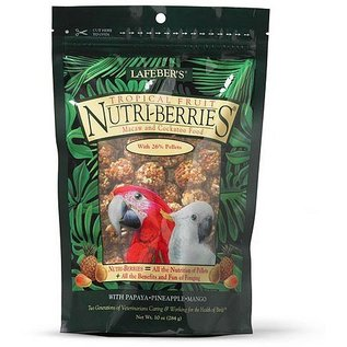 LAFEBER COMPANY LAFEBER MACAW NUTRI-BERRIES TROPICAL FRUIT 10OZ BAG